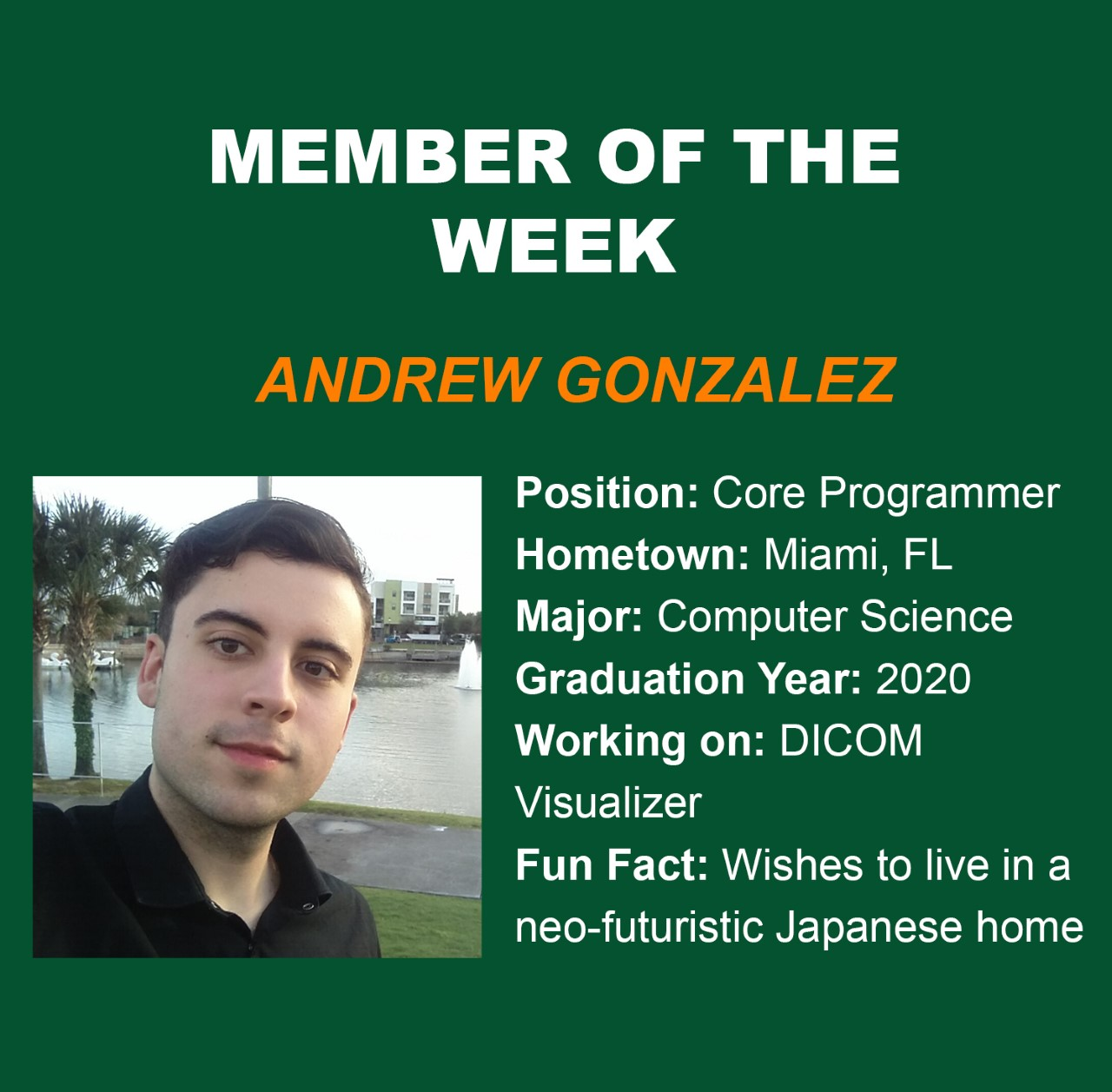 member of the week, andrew, innovate, dicom