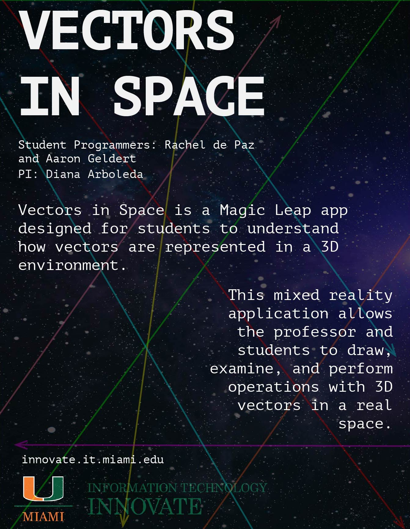 vectors in space, poster